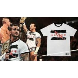 KOSZULKA WWE  CM PUNK BIAŁA MODEL 2011
