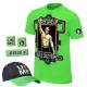 JOHN CENA 5-CZĘŚCIOWY KOMPLET WWE NEON ZIELONY