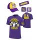 JOHN CENA 4-CZĘŚCIOWY KOMPLET WWE NEON ZIELONY